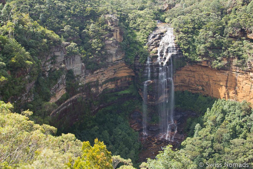 Die Wentworth Falls im Blue Mountains Nationalpark