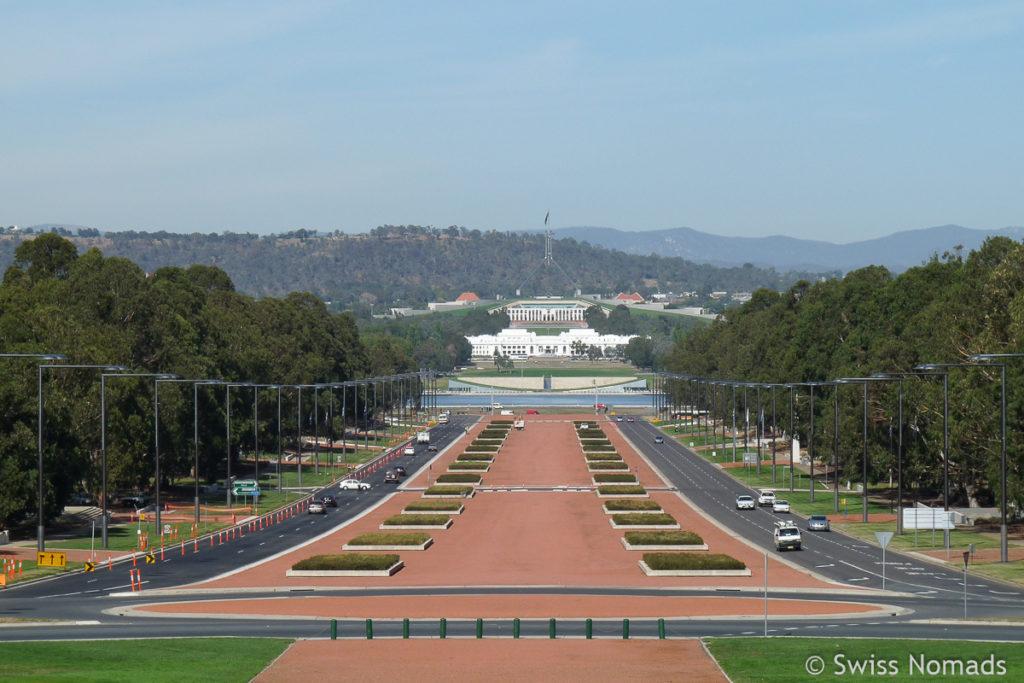 Sehenswuerdigkeiten in Canberra Parlamentsgebaeude Top 10
