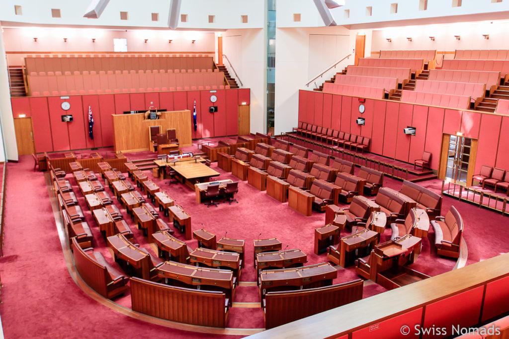 Canberra Sehenswuerdigkeiten Parlament House Green Room