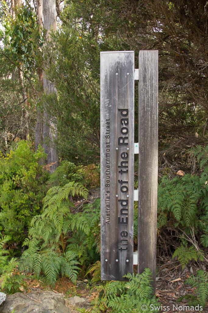 Das südliche Ende bei Cockle Creek auf unserem Tasmanien Roadtrip