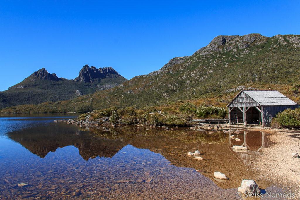 Wanderung auf den Cradle Mountain während unseres Tasmanien Roadtrips