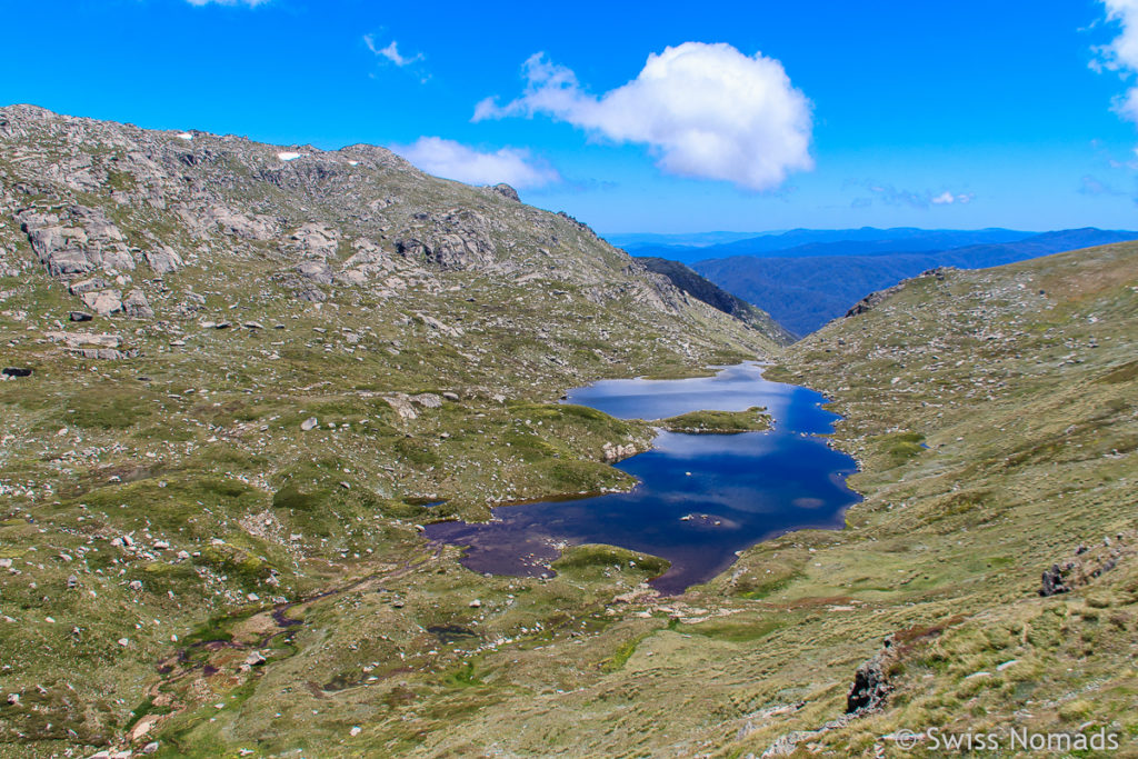Lake Albina entlang der Wanderung zum Mount Kosciuszko in AUstralien