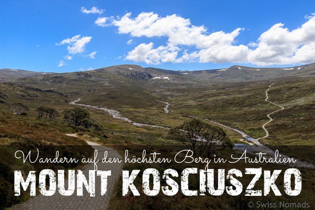 Wanderung zum Mount Kosciuszko, dem Höchsten Berg in Australien