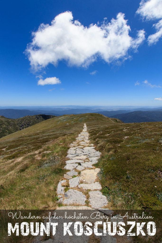 Wanderung zum Mount Kosciuszko, Höchster Berg in Australien Pinterest
