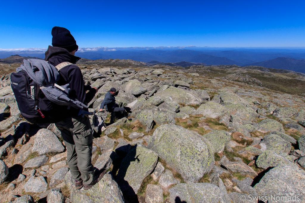 Reni auf Mount Kosciuszko, dem Höchsten Berg in Australien