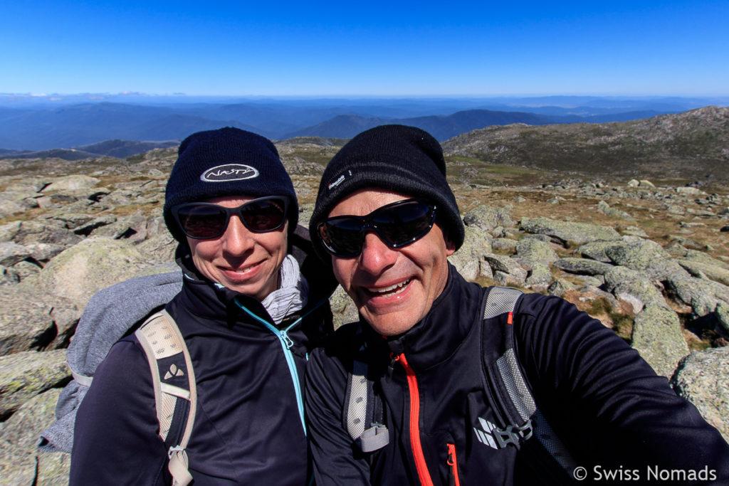 Swiss Nomads auf Mount Kosciuszko, dem Höchsten Berg in Australien