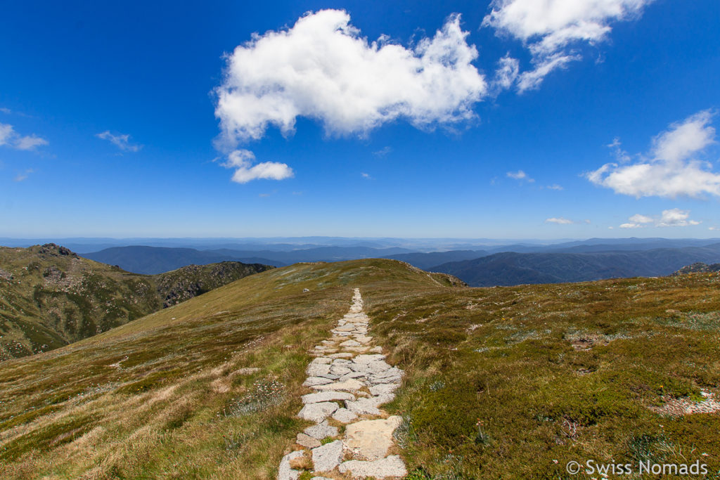 Main Range Track Wanderung zum Mount Kosciuszko in Australien