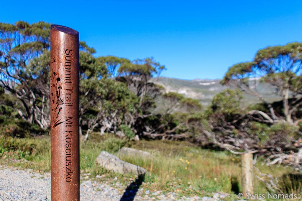 Der Summit Trail zum Mount Kosciuszko, dem Höchsten Berg in Australien