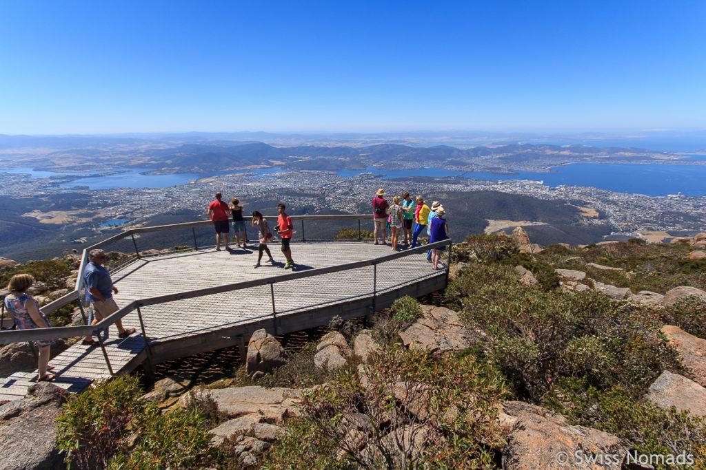 Auf dem Mount Wellington bei Hobart in Tasmanien
