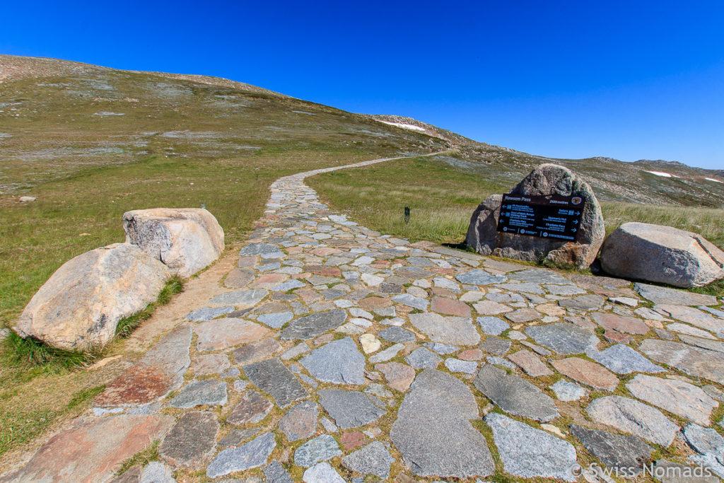 Wanderweg vom Rawson Pass zum Mount Kosciuszo Australien