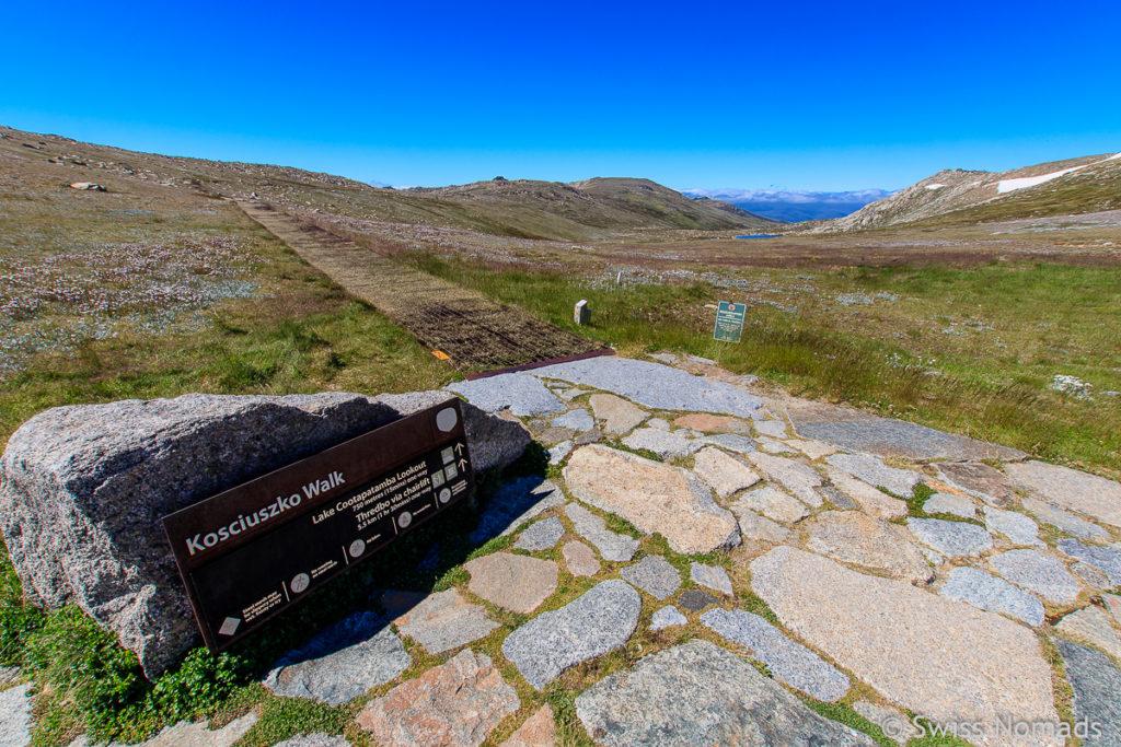 Wanderweg von Rawson Pass nach Thredbo