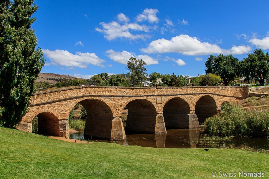 Die historische Brücke bei Richmond auf dem Tasmanien Roadtrip
