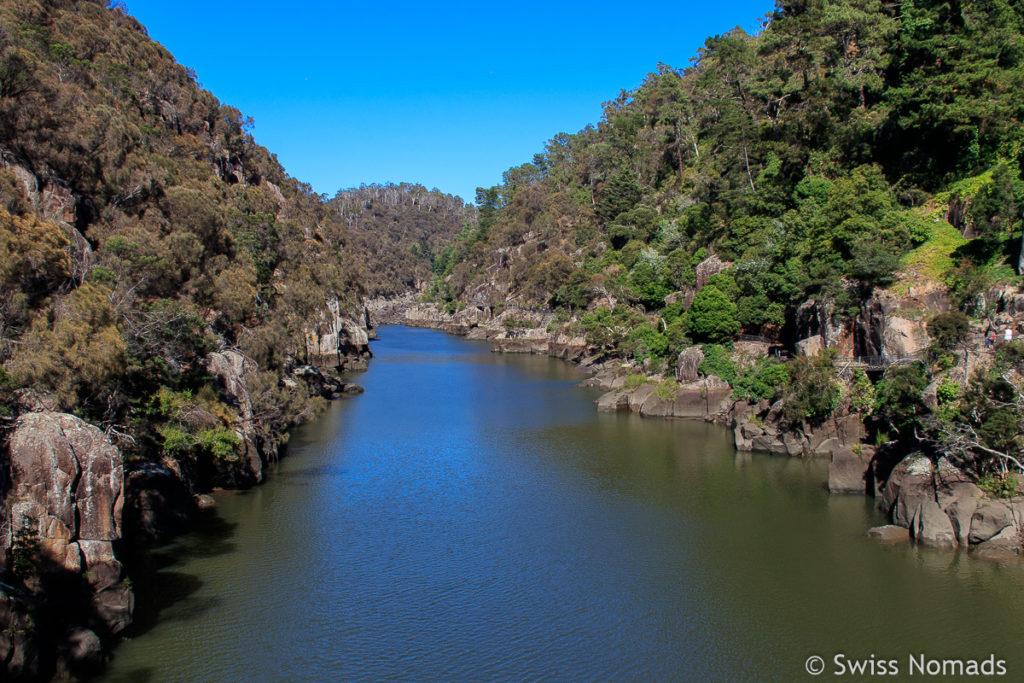 Die schöne Wanderung im Cataract Gorge in Launceston, Tasmanien