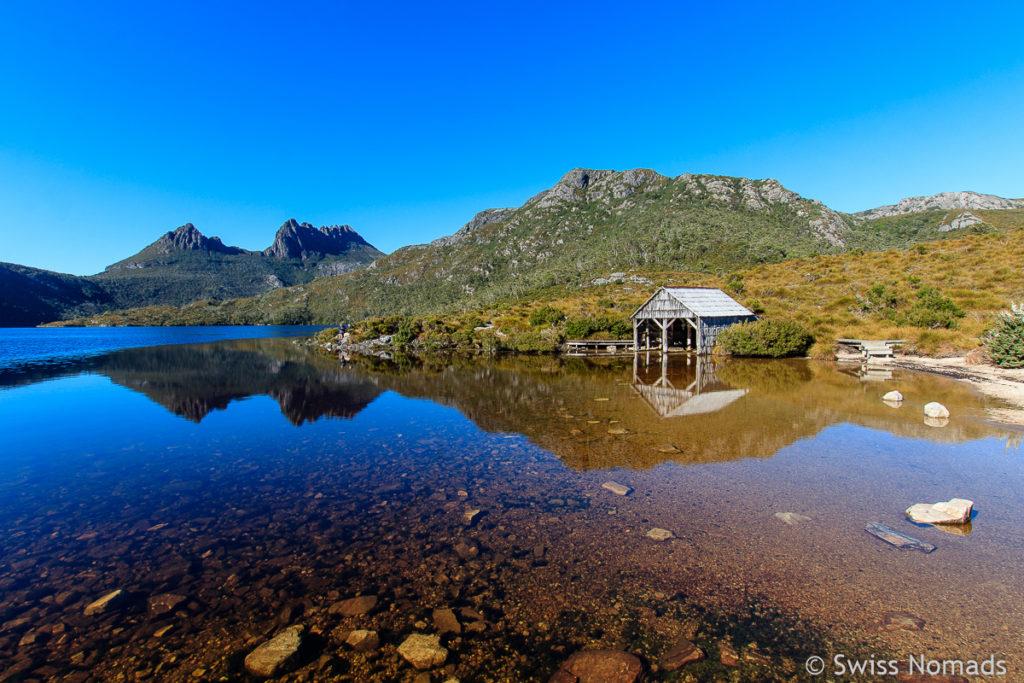 Die schöne Wanderung um den Dove Lake in Tasmanien