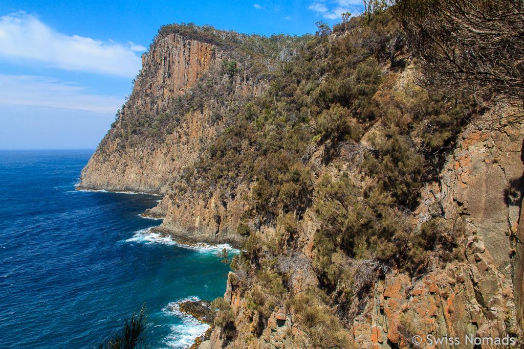 Die schöne Wanderung zum Fluted Cape auf Bruny Island in Tasmanien