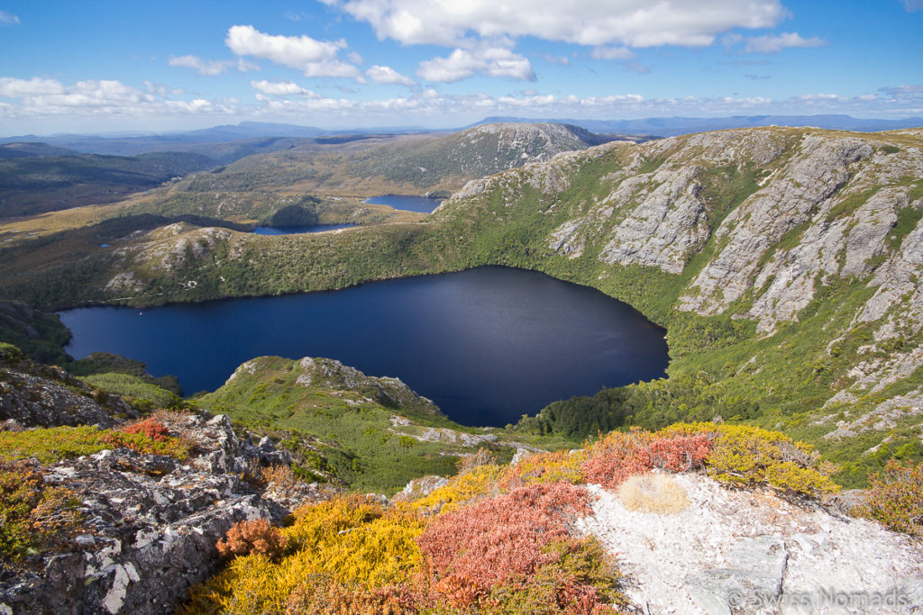 Aussicht vom Marions Lookout über den Dove Lake im Cradle Mountain Nationalpark
