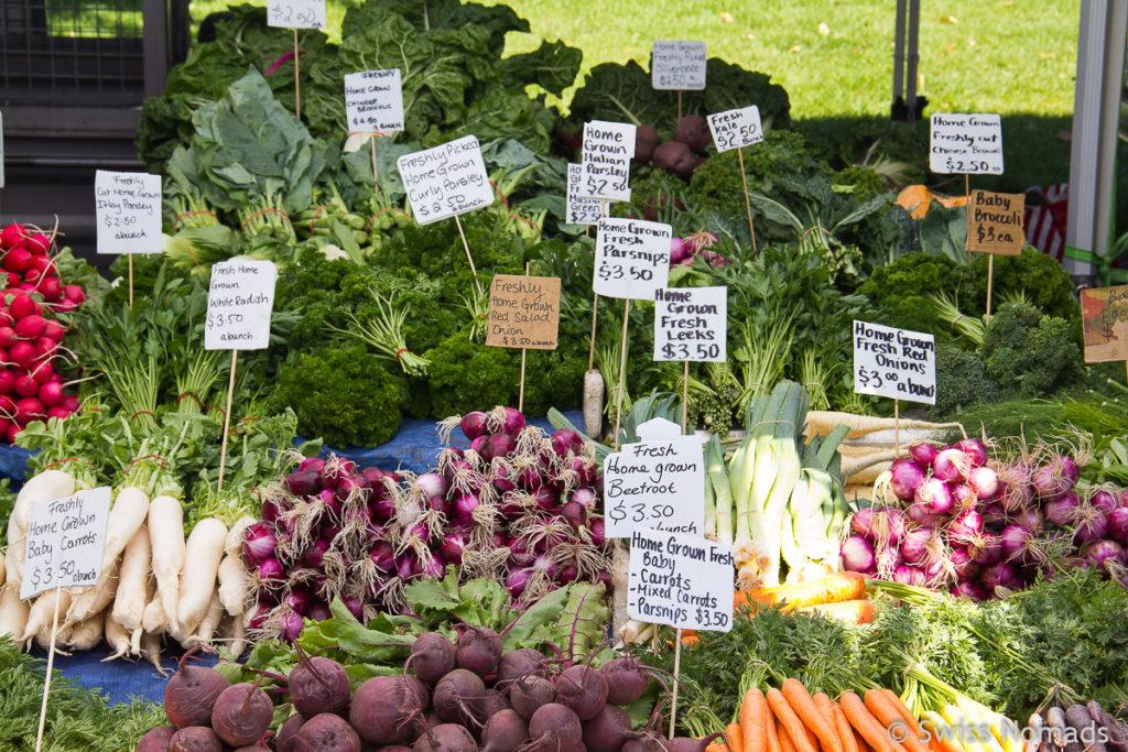 Der Salamanca Market in Hobart ist eine der Top 10 Tasmanien Sehenswürdigkeiten