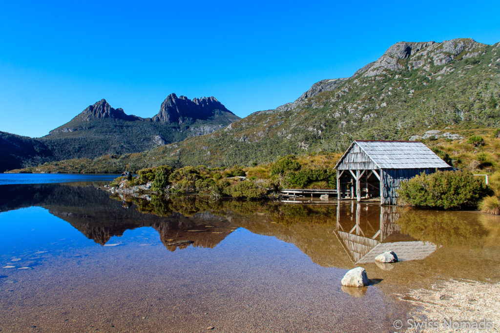 Der Cradle Mountain Lake St Clair Nationalpark in Australien