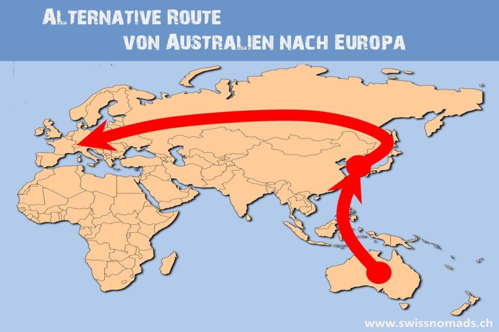 Mit dem eigenen Fahrzeug von Australien nach Europa