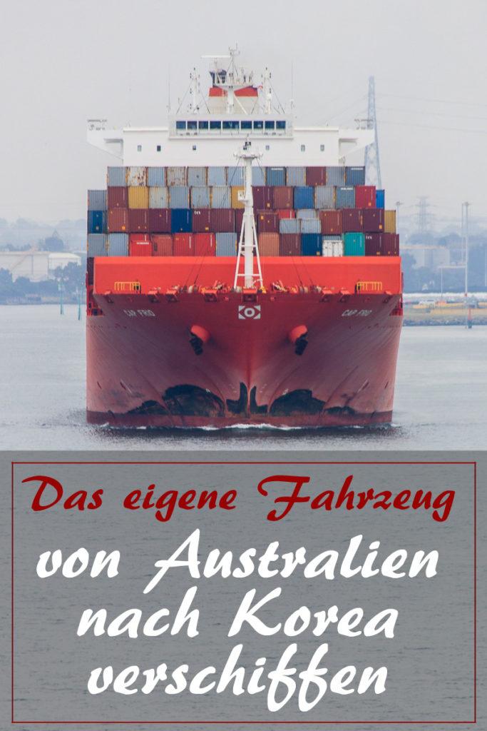Fahrzeug von Australien nach Südkorea verschiffen