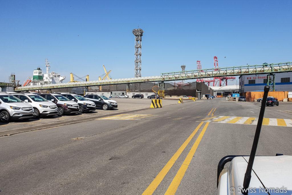 Auf dem Hafengelände Incheon Korea