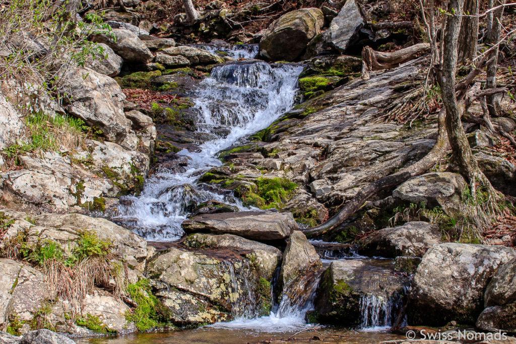 Einer der vielen Bäche im Jirisan Nationalpark in Südkorea