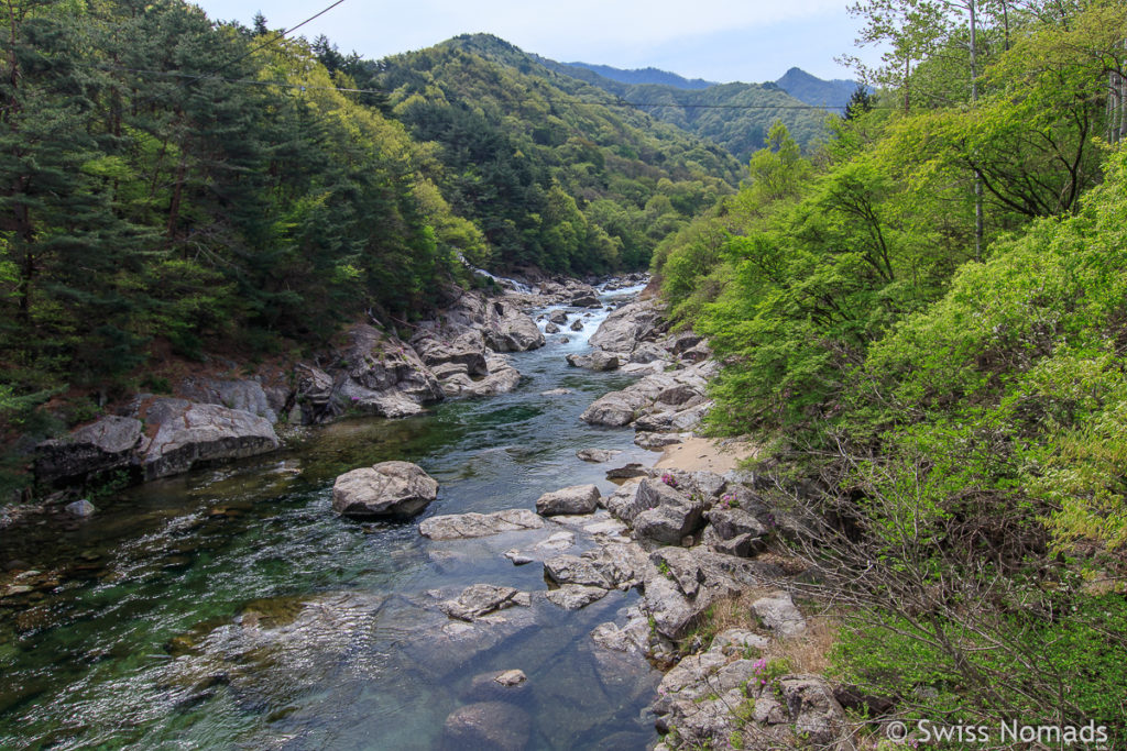 Die wilde Landschaft des Jirisan Nationalpark in Südkorea