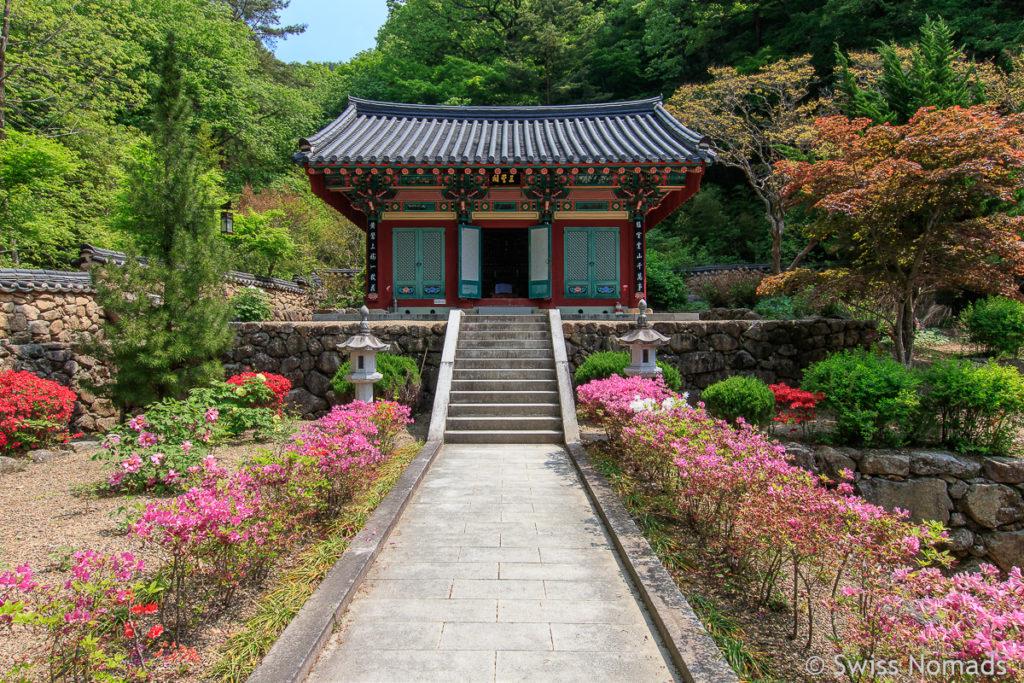 Tempelhalle des Ssanggyesa Tempel im Jirisan Nationalpark