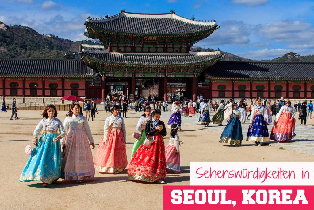 Der Gyeongbokgung Palace ist eine der Top 20 Sehenswürdigkeiten in Seoul Korea