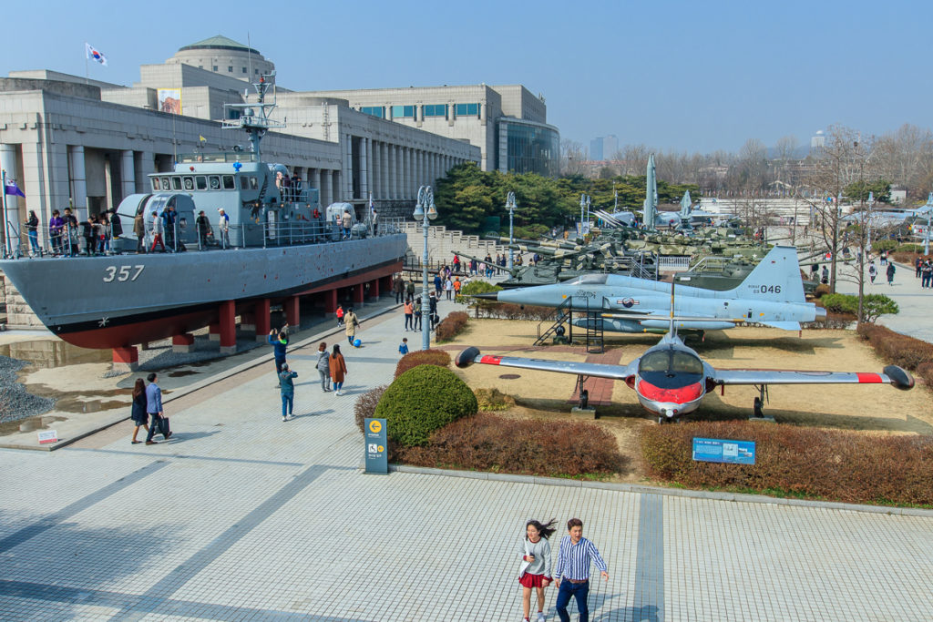 Das Kriegsmuseum Museum of Korea in Seoul