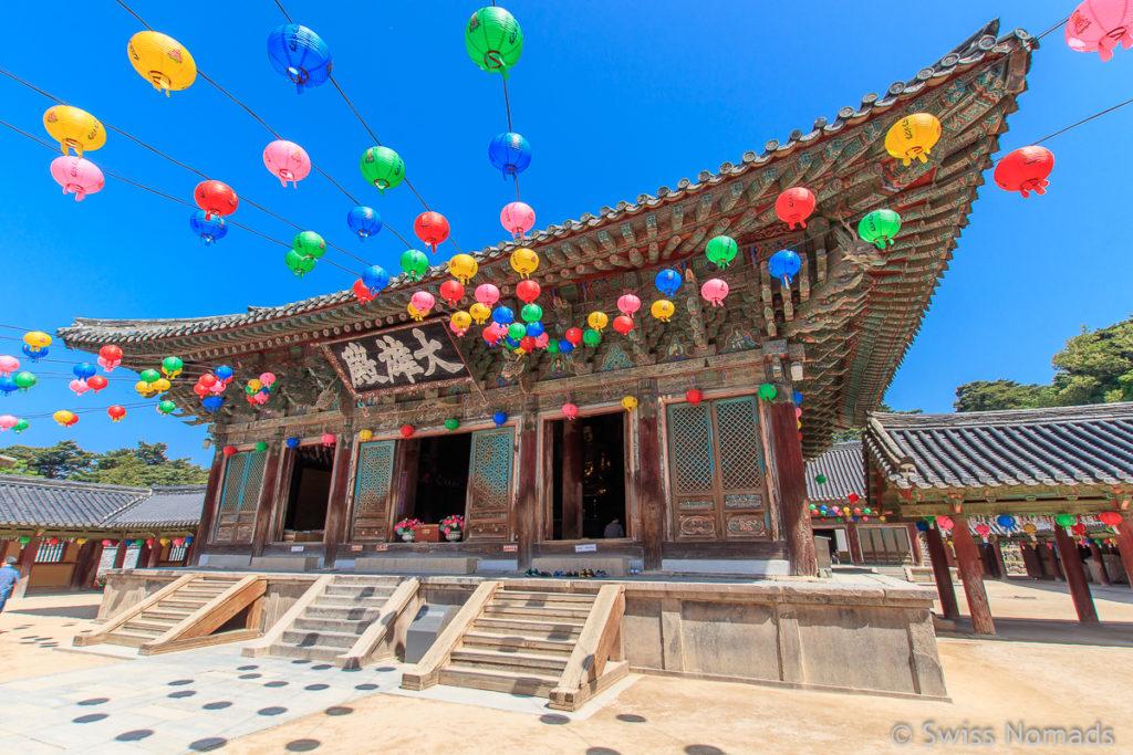 Tempel Halle im Bulguksa bei Gyeogju