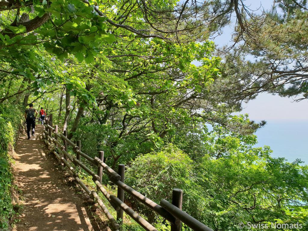 Busan Küstenwanderung im Igidae Park