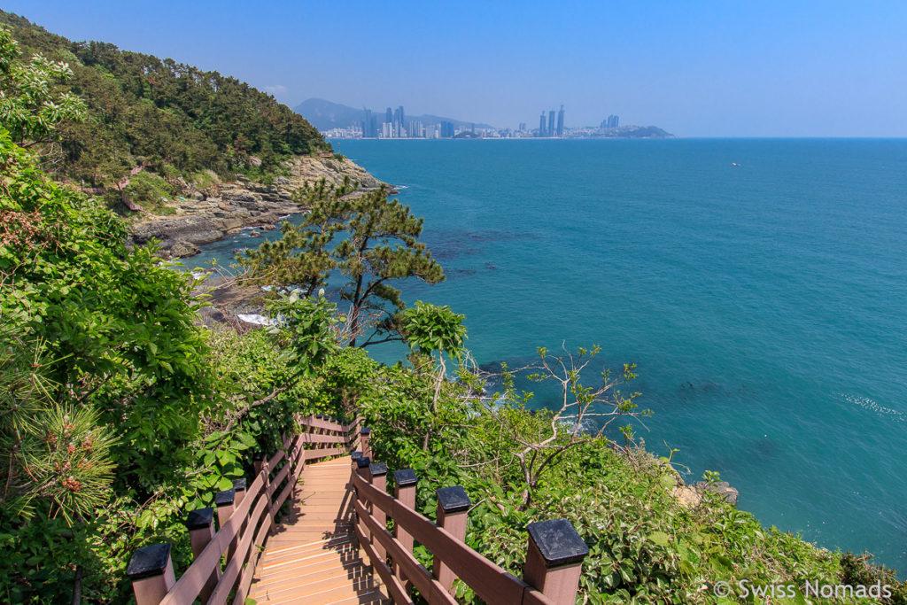 Busan Igidae Park Küstenwanderung