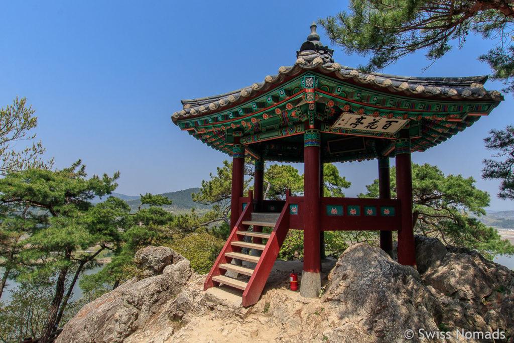 Pavillon der Busosanseong Festung in Buyeo, Südkorea
