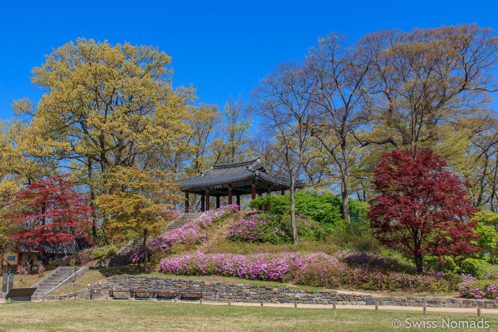 Die Gongsangseong Festung in Gongju, Südkorea