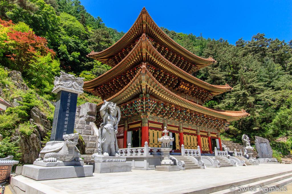 Der Guinsa Tempel ist eine Sehenswürdigkeit in Südkorea