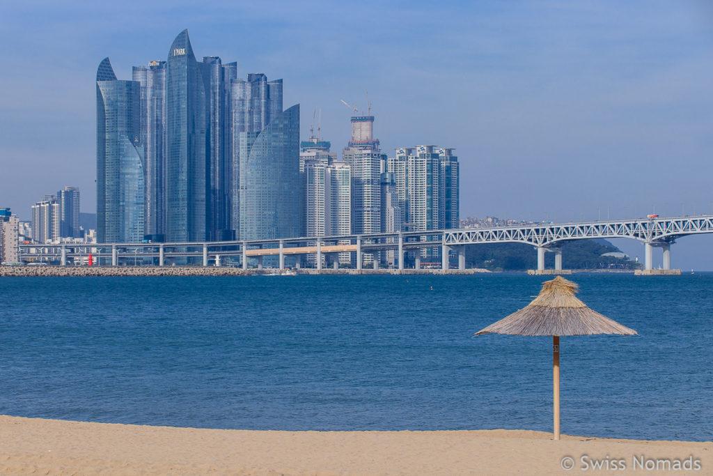 Gwangalli Strand Busan in Südkorea