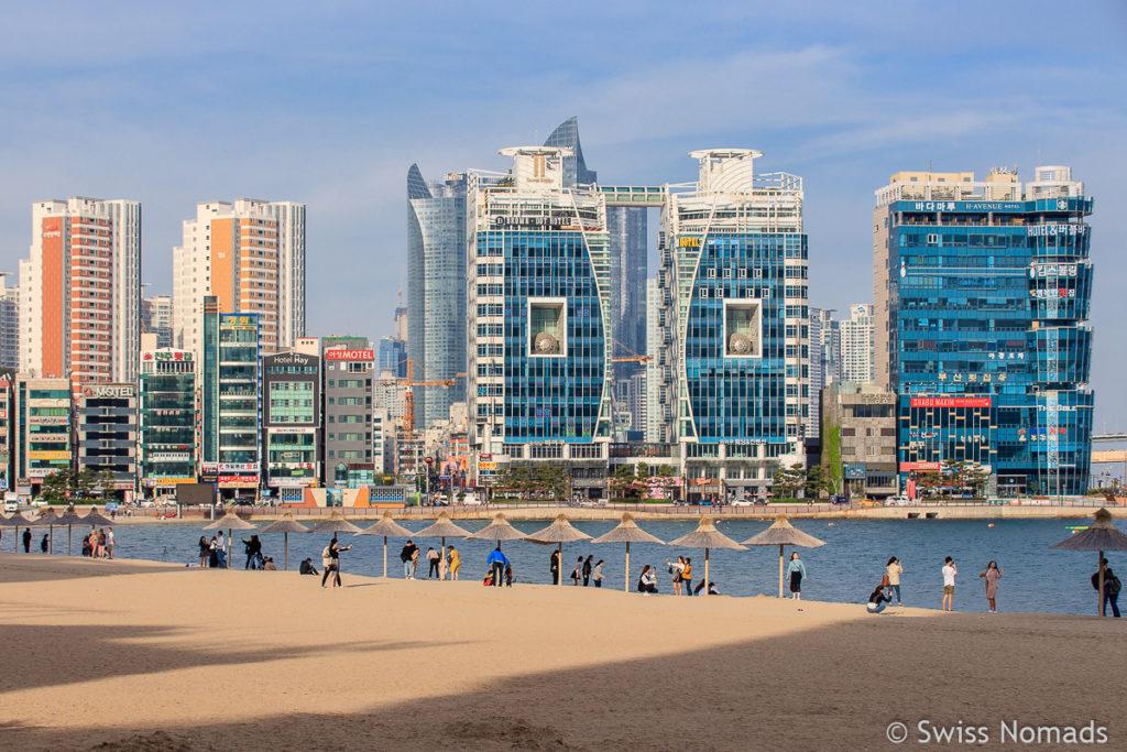 Gwangalli Beach Busan in Südkorea