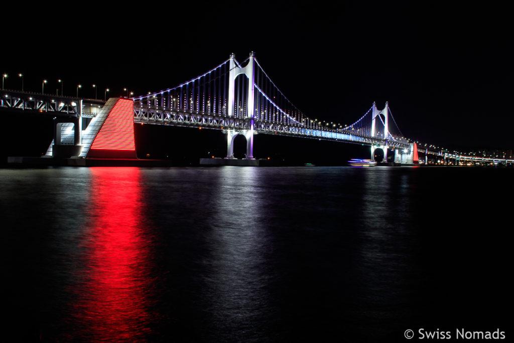 Gwangan Brücke nachts