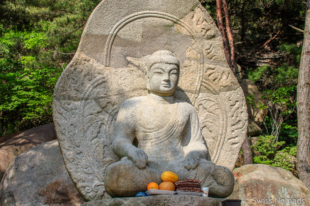 Buddha Statue im Gyeongju Nationalpark