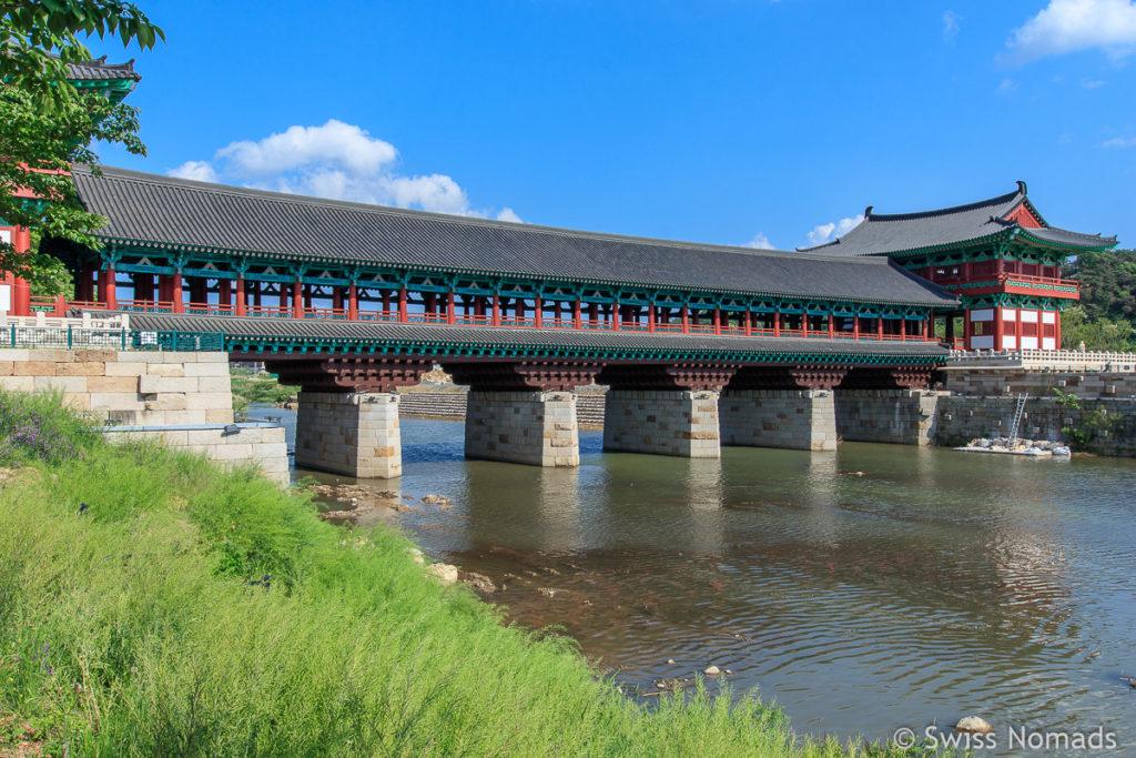 Die Woljeonggyo Brücke ist eine Sehenswürdigkeit in Gyeongju