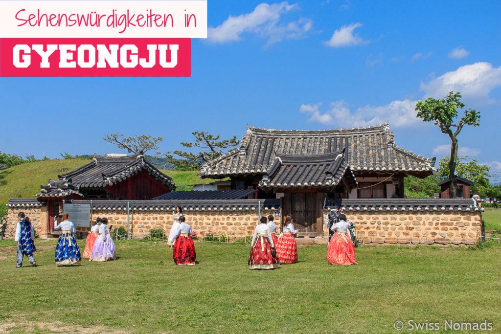 Die Sehenswürdigkeiten in Gyeongju