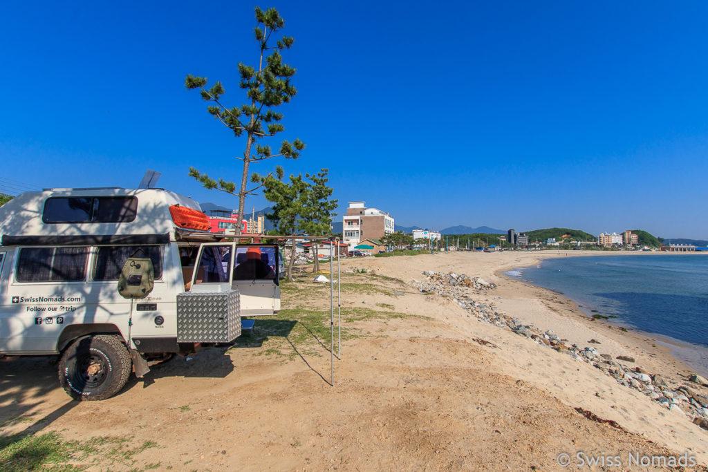 Seorak Beach ist einer der schönsten Strände in Südkorea