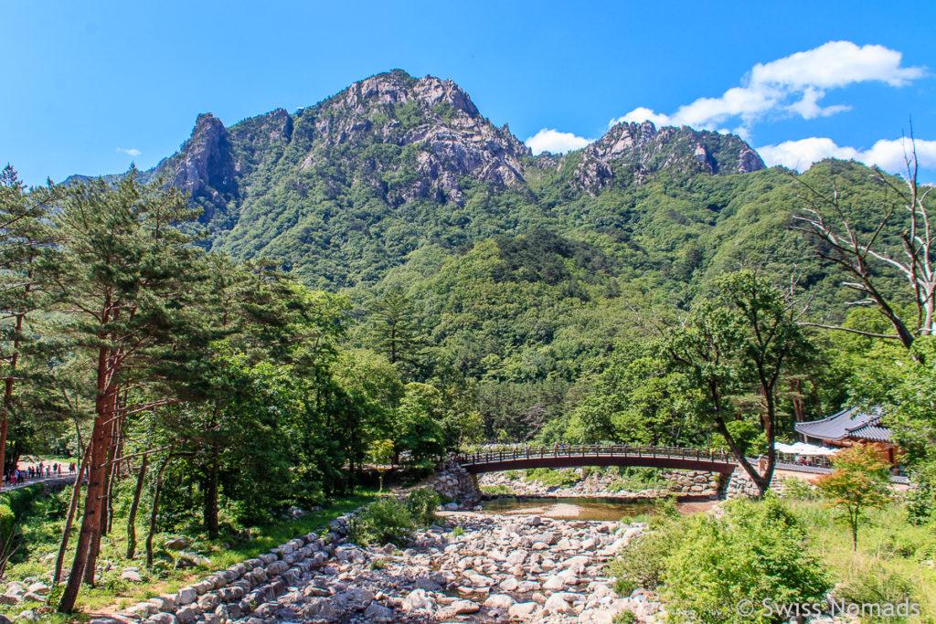 Die Flusslandschaft im Seoraksan Nationalpark