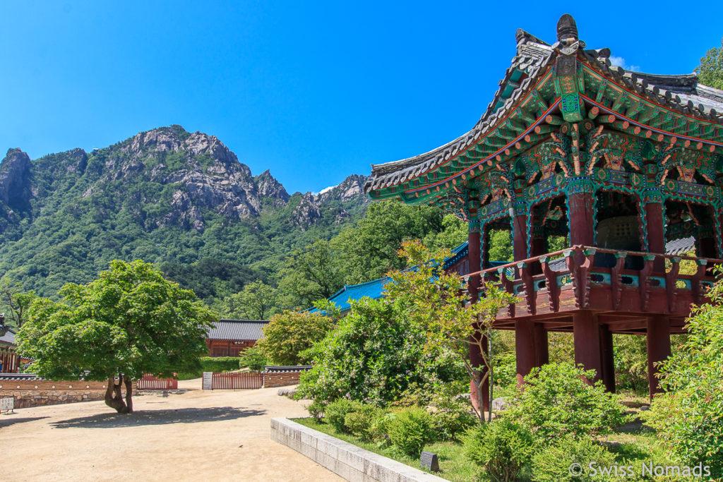 Der Pavillon des Sinheungsa Tempels bei Seorakdong