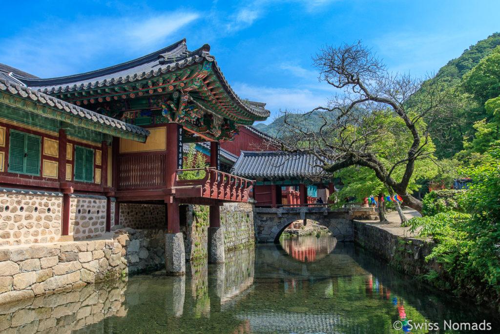 Der Songgwangsa Tempel ist einer der schönsten Tempel in Südkorea