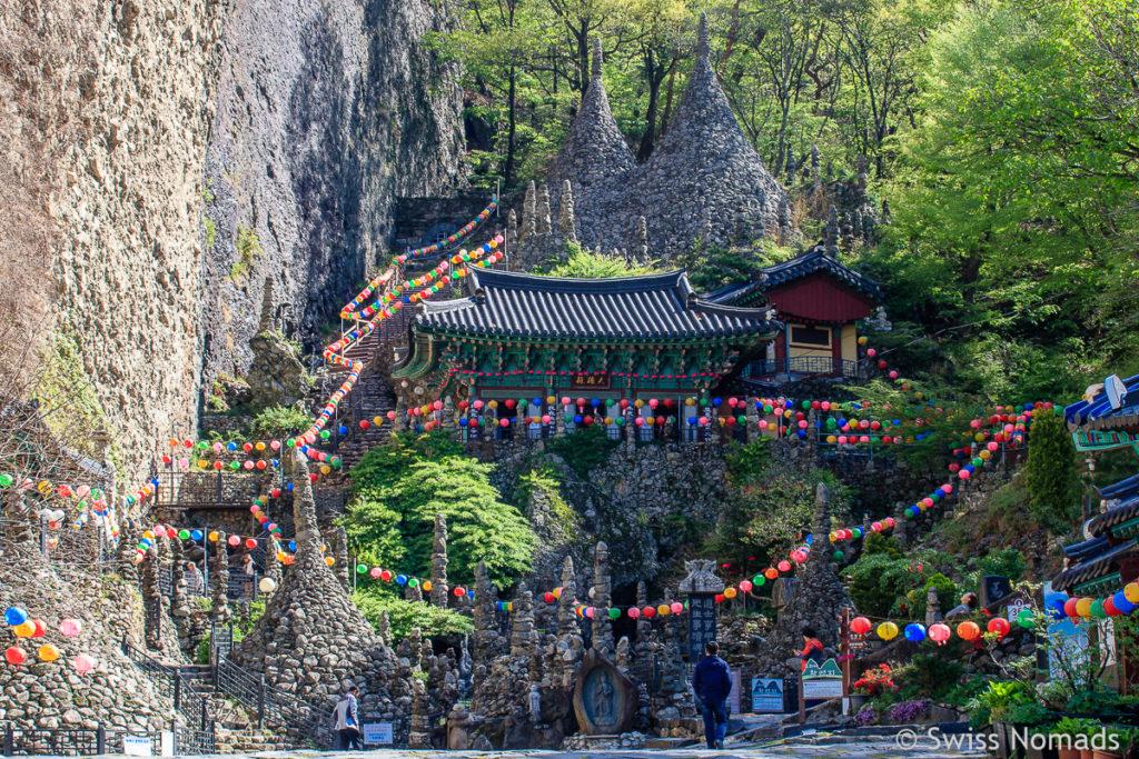 Der Tapsa Tempel im Maisan Provincial Park in Südkorea