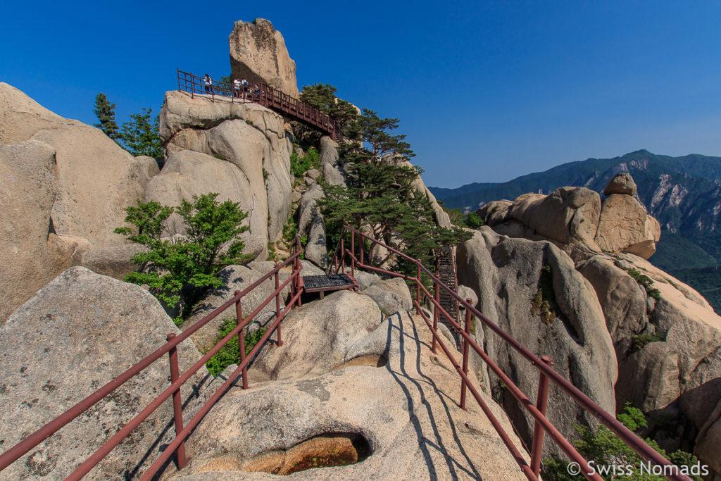 Die Aussichtsplattformen beim Ulsanbawi im Seoraksan Nationalark
