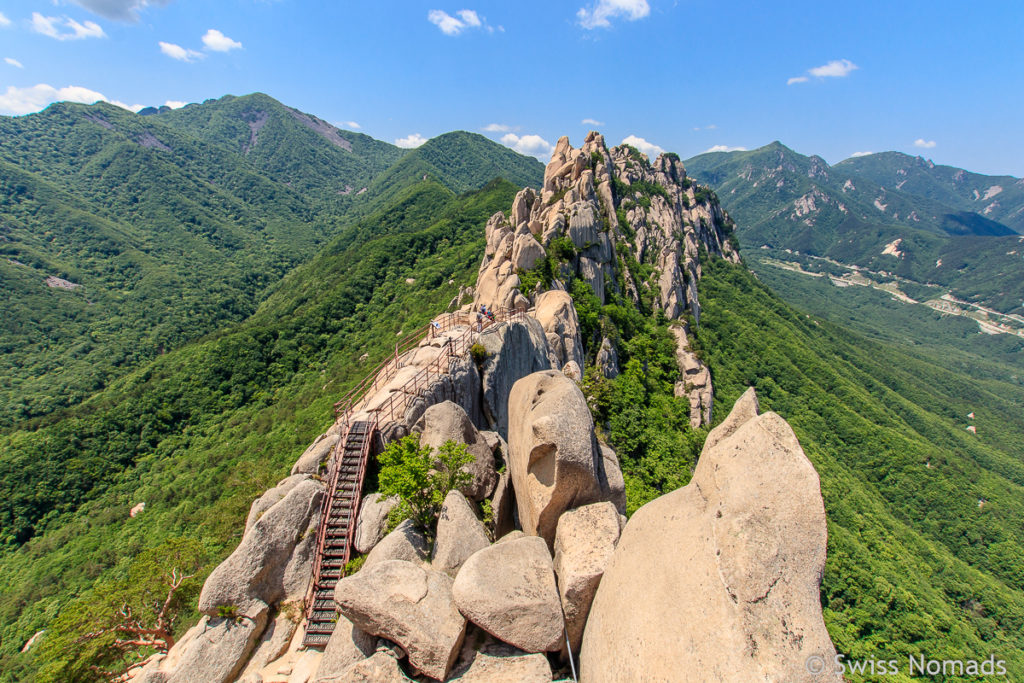 Wandern im Soraksan Nationalpark in Südkorea