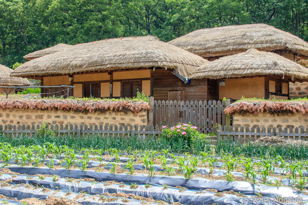 Das Yandong Folk Village in Gyeongju, Südkorea